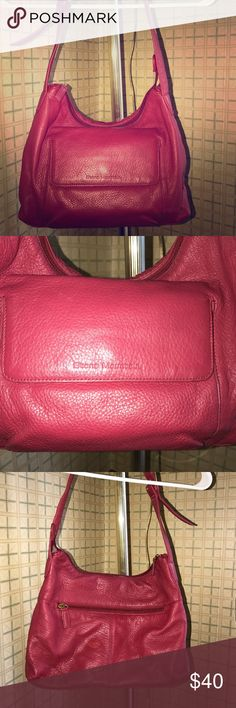 🌺STONE MOUNTAIN 🔥FIREY RED🔥LEATHER HANDBAG 🌺👜STONE MOUNTAIN🌺👜LEATHER ADJUSTABLE HANDBAG🔥 The pic shows the true color. It's a cherry red and the leather is so soft. Leather gets better with age. Excellent condition. CLEAN INTERIOR❗️PLENTY of room for all your things. I personally like it as a shoulder bag because it has that hobo shape to it. Also cute as a crossbody bag💋 STONE MOUNTAIN Bags Shoulder Bags