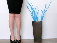 Custom Painted Branches 25 - 30 inches tall / Your choice of color / unique vase filler / wooden branches / Floor Vase Branches