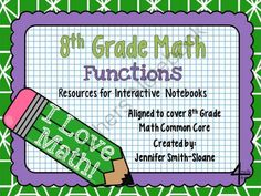 8th Grade Interactive Notebook Bundle- Functions- CCSS and TEKS from 4mulaFun on TeachersNotebook.com -  (48 pages)  - 8th Grade Interactive Notebook Bundle- Functions- CCSS and TEKS