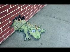 (video) Too Cute 3D Chalk Street Art by David Zinn! - YouTube (slide show of numerous artwork) ~ for more great PINs w/good links visit @djohnisee ~ have fun!