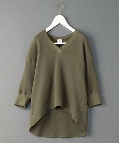 6(ロク)の<6(ROKU)>THERMAL V NECK 6SLEEVE/サーマル(Tシャツ/カットソー) オリーブ