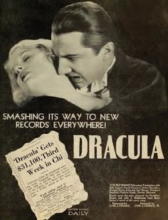 wow Helen Chandler, Dracula Film, Carl Laemmle, Hollywood Monsters, Horror Posters, Theatre Posters, Beautiful Dark Art, Classic Monsters, Vintage Movies
