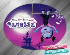 Vampirina Birthday Sign - PrintDParty Selling Birthday Invitation and Printable Party Decoration Digital File. Printable Birthday Invitations, Party Printables, Birthday Door Decorations, Happy Birthday Signs, Party Signs, Transfer Paper, Thanks For Coming, Party Plates