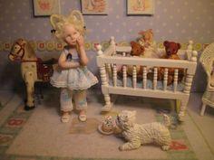 OOAK Dollhouse Miniature Girl Doll * Amelia * by Carol McBride
