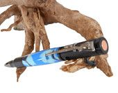 Sky Blue Camo Bullet Bolt Action Pen with Rifle Clip Men Dad Grandpa Father Gift by CraftCrazy4U