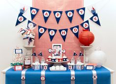Nautical - Party Package Full Collection - Birthday Boy - Custom Printable - psDre Party Printables. €30,00, via Etsy.