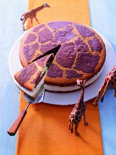 Giraffentorte -  Eine Torte für Kinder mit einer Buttermilchfüllung