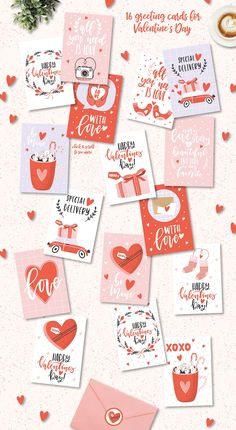 Valentine's Day Clip arts & quotes By lokko studio - San Valentino Idee Postcard Template, Postcard Design, Valentines Illustration, Valentines Day Funny, Valentine's Day Printables, Clip Art, Saint Valentine, Valentines Day Decorations, Cute Cards
