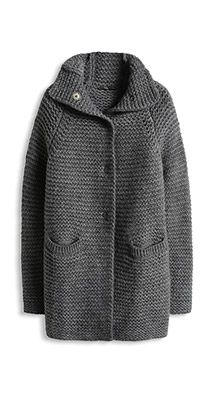Crochet Patterns Sweter Esprit - Chunky-Cardigan o. Jacket buy in Online Shop Crochet Coat, Crochet Cardigan Pattern, Knitted Coat, Knit Cardigan, Chunky Cardigan, Coat Patterns, Baby Knitting Patterns, Crochet Patterns, Paris Mode