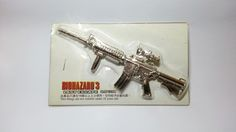 Hong Kong Capcom Comic BIOHAZARD 3 Last Escape Promo Assault Rifle Silver Metal Toy - Resident Evil by mycoffeeboy