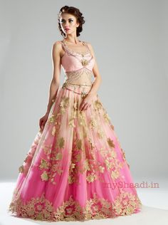 Gorgeous #WeddingGown, Indian Style by Kamaali Couture Bridal Collection https://www.facebook.com/kamaalicouture?fref=ts via @ShaadiBazaar -