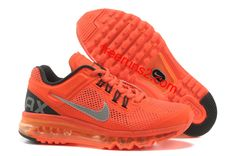 Womens Nike Air Max 2013 Orange Silver Black Shoes- want these!!!!