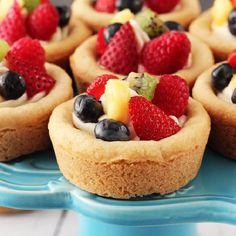 Fruit Cheesecake Sugar Cookie Cups.#food.