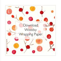 fun free down-loadable wrapping paper!