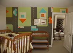 "Try this ""streets seamless-patterned"" InkShuffle ‪wall‬ mural for your kid's room to stimulate their imagination!"