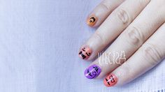 Nail art ABC challenge: M for Moustache. Reto ABC de las uñas: M de MOSTACHO. By Vilcis