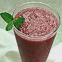 Smoothie Blues - You are sure to enjoy this refreshing, blueberry-strawberry drink.