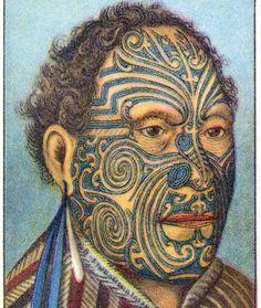 1932 Vintage Spanish Sheet of Illustrations on Tattoos