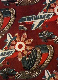 Soviet fabrics design, 1933, Mechanization.