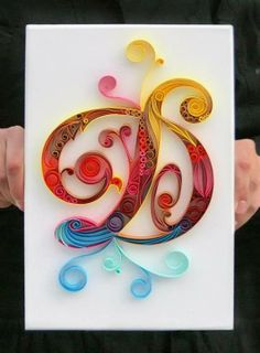 "Make ""Q"" out of quilled paper for the alphabet wall in Caroline's room"