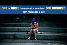 1 in 3 teens sends more than 100 text messages a day  FILM240 photofigure by Anne Ricci