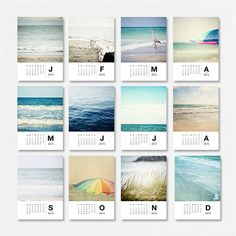 2013 Beach Calendar, 2013 Photography Calendar - Christmas Gifts Under 30, 2013 Photo Calendar, Gifts, Ocean, Beach, Gifts for Women. via Etsy.