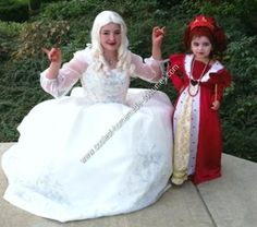 Homemade Red Queen from Tim Burton's Alice in Wonderland Girl's Costume Idea: For Halloween this year, I had a Red Queen from Tim Burton's Alice in Wonderland Girl's Costume Idea to do as a family theme. I was the White Queen and