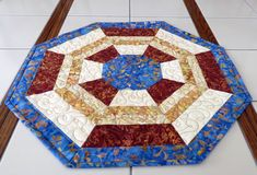 Quilted Centerpiece blue brown cream Quilts For Sale, Custom Quilts, Blue Brown, Valentine Gifts, Collaboration, Centerpieces, Cotton Fabric, Cream, Pets