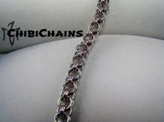 Bracelet - Helm Chain by Chibichains #Chainmail #chainmaille #Helm #bracelet…