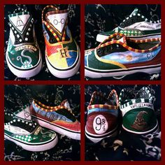 Hand Painted Shoes Inspired by Harry Potter by GallifreyanMarket, $85.00