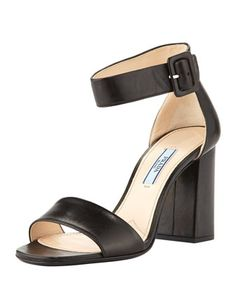 4671d590726f7 Chunky Ankle-Strap Sandal by Prada at Bergdorf Goodman. Prada Shoes