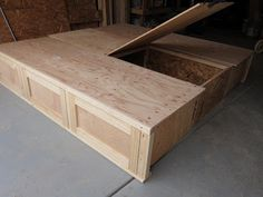 do it yourself divas diy king size storage bed part 2 drawers - King Size Bed Frame With Storage