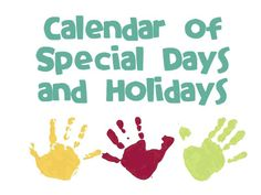 Special Days and Holidays