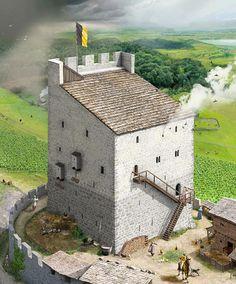 Reconstruction of Schloss Heidegg by Joe Rohrer