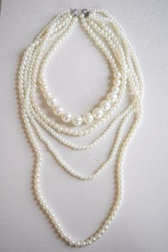Long Layered Pearl Necklace - MOD&SOUL Fashion Clothing and Jewelry  - 1