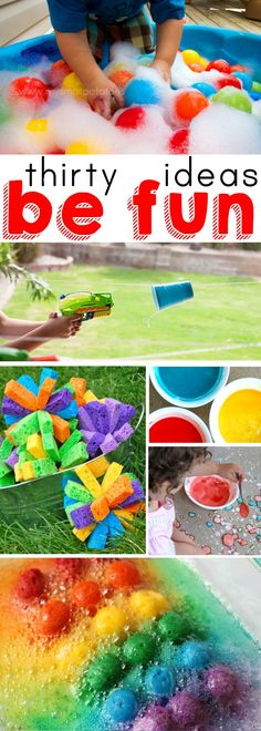 30 Fun Ideas For Summer! Kids will love these and you will feel like a cool parent.
