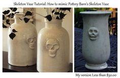 DIY Halloween : DIY Pottery Barn Skeleton Vase : DIY Halloween Decor
