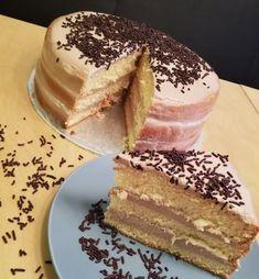 Biskuittorte mit Nutella®-Topfen-Creme - QimiQ Vanilla Cake, Nutella, Tiramisu, Sweets, Ethnic Recipes, Desserts, Food, Bakken, Food And Drinks