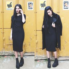 Holynights Claudia - Vintage Sequin Dress, Unif Choke Boots - Happy holydays