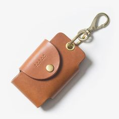 Leather Smart Key Case - Brown