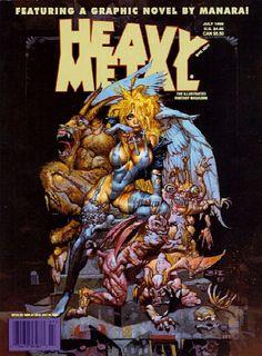 Simon Bisley paints a cover to Heavy Metal magazine - Simon Bisley ...