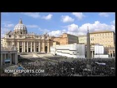 Pilgrims cover St. Peter's Square to see Benedict XVI's Last Angelus
