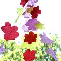 Guirnalda de flores de fieltro diy