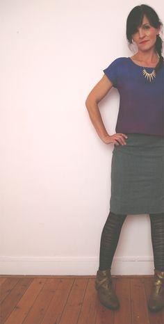 Jupe Crayon & Purple Top - République du Chiffon patron gratuit
