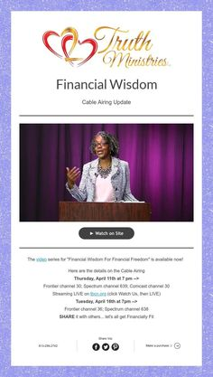 Financial Wisdom on air Sunday Technical Difficulties, Message In A Bottle, I Site, Freedom, Wisdom, Ads, Messages, Cable, Sunday