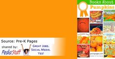 Books About Pumpkins- pinned by @PediaStaff – Please Visit  ht.ly/63sNt for all our pediatric therapy pins