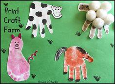 Farm animal crafts, farm activities, animal activities, classroom crafts, d Preschool Farm Crafts, Kids Crafts, Farm Animals Preschool, Farm Animal Crafts, Animal Art Projects, Farm Activities, Daycare Crafts, Classroom Crafts, Baby Crafts