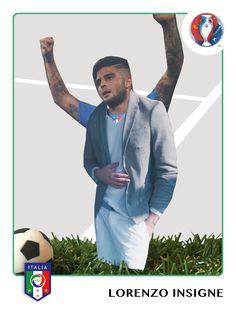 Forza Azzurri! #officina36 #EURO2016 #ITA #OFCN #style #men #fashion #collage #madeinitaly #lorenzoinsigne #mensfashion #clothing #mensstyle #cutout #handmade #vintage #panini #figurina #figurine #papercuts #vivoazzurro #ITALIA www.officina36.com