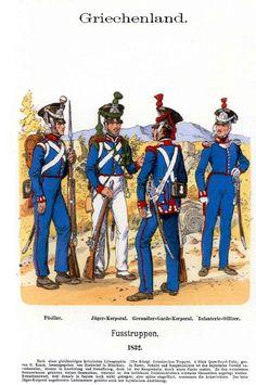 old Greek army uniforms Army Uniform, Men In Uniform, Military Uniforms, Hellenic Army, Greek Independence, Military Costumes, Old Greek, Greece Photography, Greek Warrior