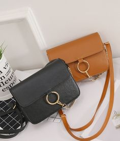 Womens Fashion Leather Messenger Hobo Satchel Handbag Ring Chain Shoulder Bag #Unbranded #MessengerCrossBody